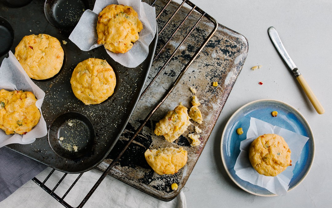CHEESE AND CHILLI CORNBREAD MUFFINS